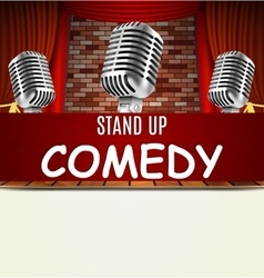 Stand Up Comedy Show vector image vector image