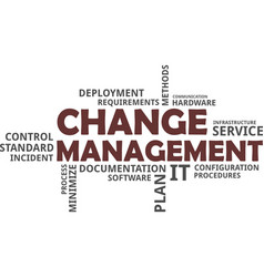Word cloud - change management vector