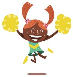 young smiling cheerleader vector image vector image