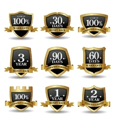 Set of 100 percent guarantee golden labels vector