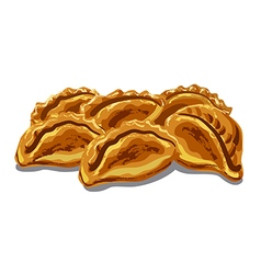 fresh hot pastries vector image