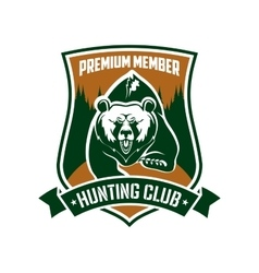 Hunting club premium member isloated sign vector