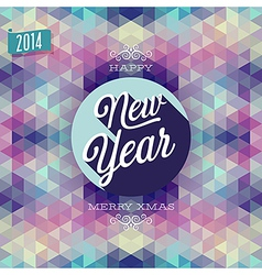 Hipster new year vector