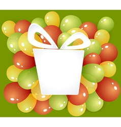 Gift frame with balloons vector image