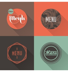 Labels for restaurant menu design vector