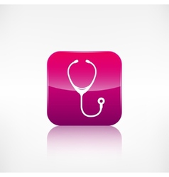 Stethoscope iconapplication button vector