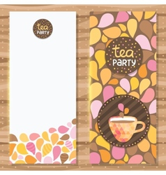 Tea party brochure template vector