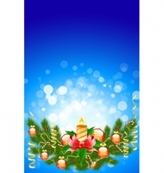 Christmas fir tree vector