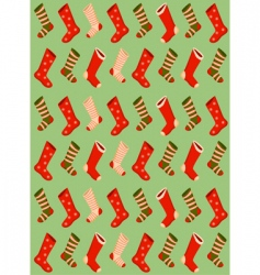 Christmas stockings wallpaper vector image