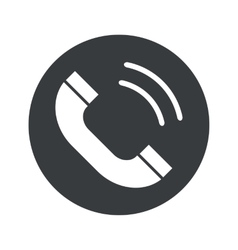 Monochrome round calling icon vector