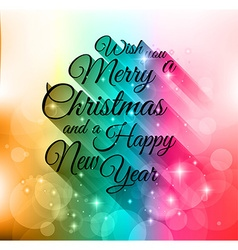 Merry christmas lettering seasonal background for vector
