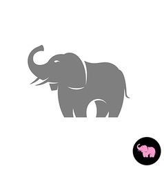Elephant stylized logo silhouette small pink vector
