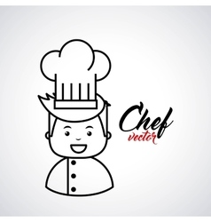 Chef isolated design vector