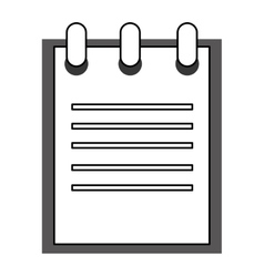 Open wired notebook vector