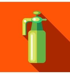 Pressure garden sprayer bottle icon flat style vector
