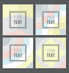 a set of abstract geometric designs in gray cream vector image vector image