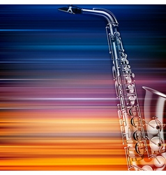 Abstract blur music background with saxophone vector