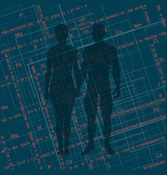 Abstract image of a man and a woman i vector