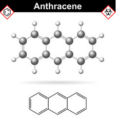 Anthracene chemical molecule polycyclic aromatic vector