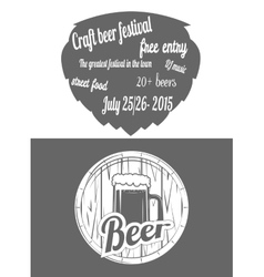 Beer festival two-color flayer vector