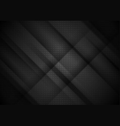 black tech stripes abstract background vector image vector image