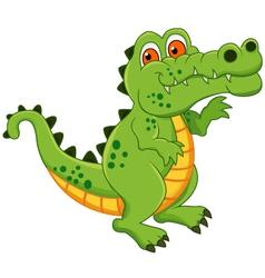 crocodile cartoon isolated vector image vector image