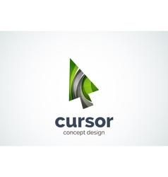 Cursor logo template mouse pointer and arrow vector image vector image