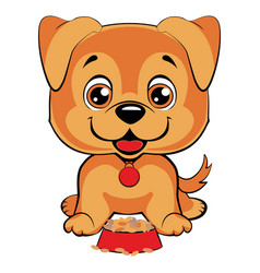 cute cartoon dog children s funny vector image