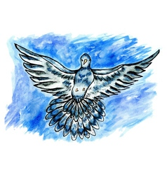 Dove sketch01 vector