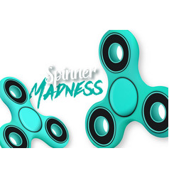 Fidget spinner gadget icon realistic spinning toy vector