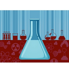 Glass beaker and other containers vector