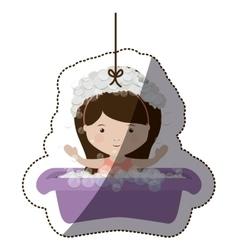 Isolatd baby girl design vector image