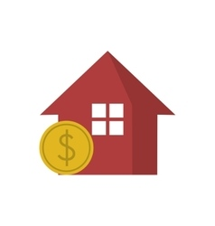 Isolated house and coin design vector