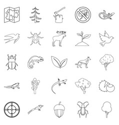 Locality icons set outline style vector