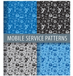 mobile service pattern vector image vector image