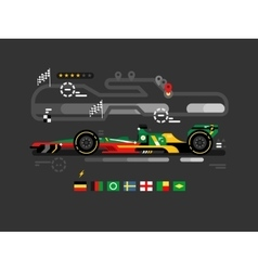 Motorsport formula one vector
