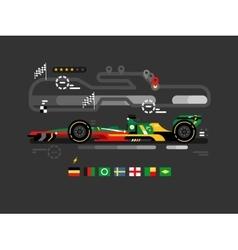 Motorsport formula one vector image