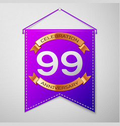 ninety nine years anniversary celebration design vector image