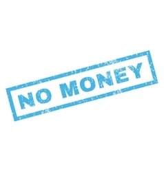 No money rubber stamp vector