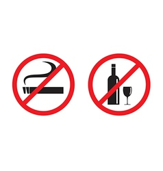 No smoking No drinking vector image
