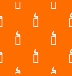 Plastic bottle of drain cleaner pattern seamless vector