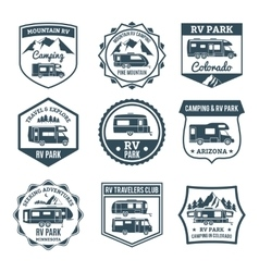 Recreational Vehicle Emblems vector image vector image