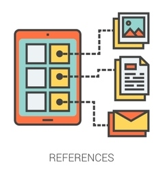 References line icons vector