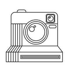 Retro instant camera photographic isolated icon vector