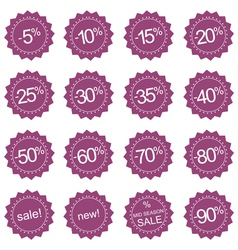 Retro sale icons tag stickers or labels vector image
