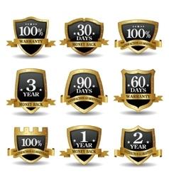 set of 100 percent guarantee golden labels vector image