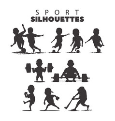 sport silhouettes on white background vector image