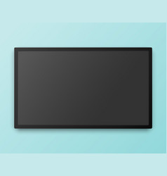 tv screen template with empty screen high vector image vector image