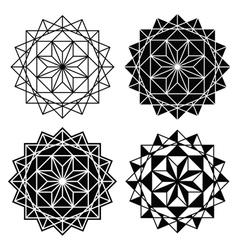 Geometric design single abstract pattern set vector