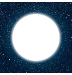 White round frame starry night sky vector